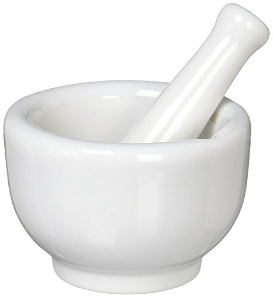 細菌小康スリチンモイ丸寿製陶 乳鉢セット 磁製 並60mm 乳棒付