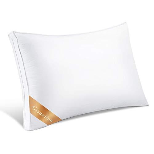 Gizaniton 安眠枕 三星高級ホテル仕様 肩こり 快眠枕 高級ホテル仕様 安眠枕 高反発枕 横向き対応 丸洗い可能 立体構造 高さ調節可能 43x63cm 1年保証期間があり