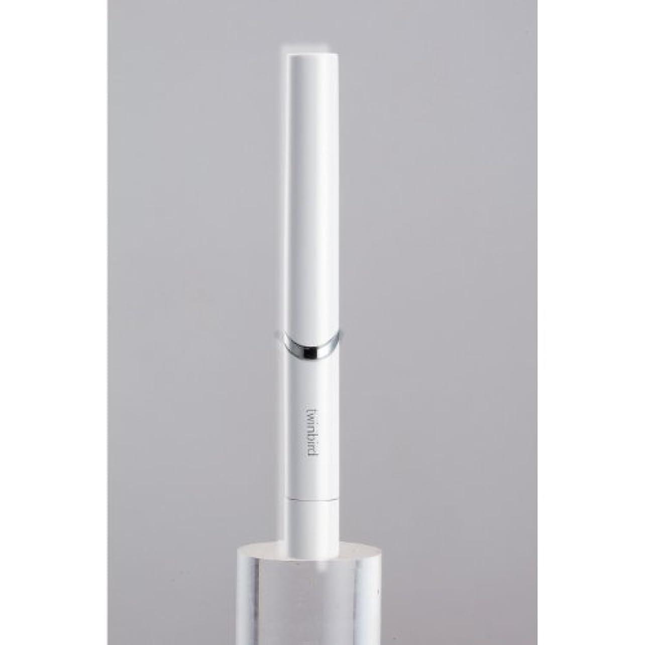 ゆるい大通り遅らせるツインバード 音波振動式歯ブラシ BD-2741 ホワイト?BD-2741W