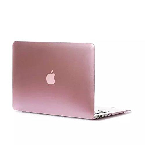 【Gearap】MacBook Air 13.3インチ用 スナップ式 ハードシェルケース カバーMacBook Air 13.3インチケース(対応モデル: A1369/A1466) (ローズゴールド) [並行輸入品]
