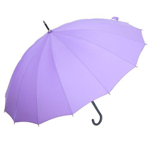 【わにゃんこ】雨に濡れるとネコが浮き出る和傘婦人16本傘/レイングッズ通販【パープル】