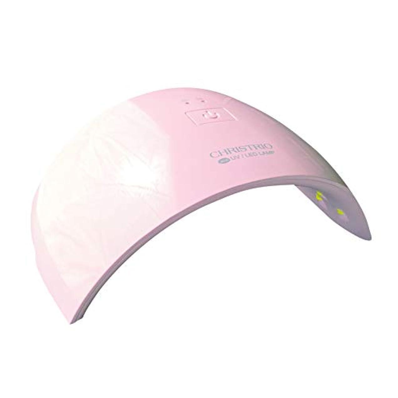 巨大成長同意CHRISTRIO 36W OPAL LED/UVランプ ピンク