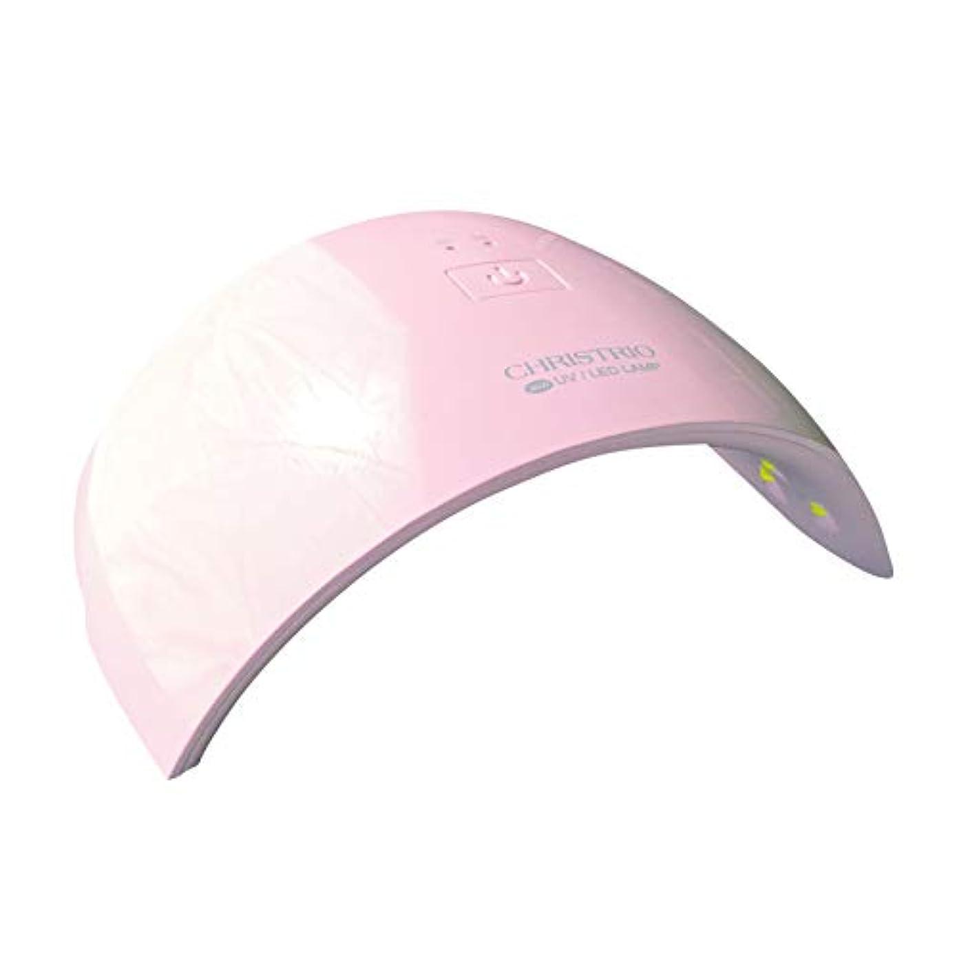 協定遅滞のれんCHRISTRIO 36W OPAL LED/UVランプ ピンク
