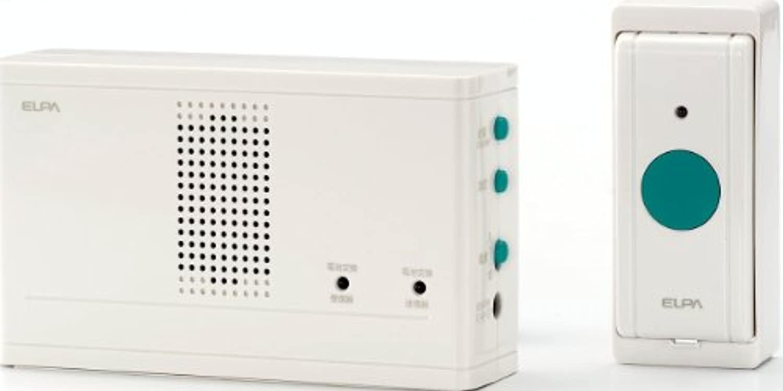 ELPA ワイヤレスチャイム 押ボタン送信器セット EWS-1001