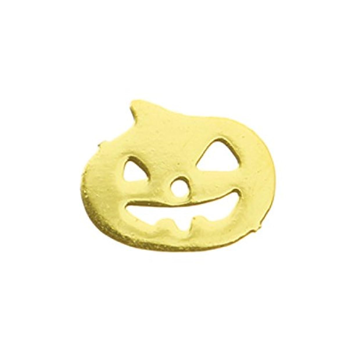 フラフープ摘む注入するメタルプレート(ネイルストーン デコ) パンプキン ゴールド (30個入り)(ネイル用品)