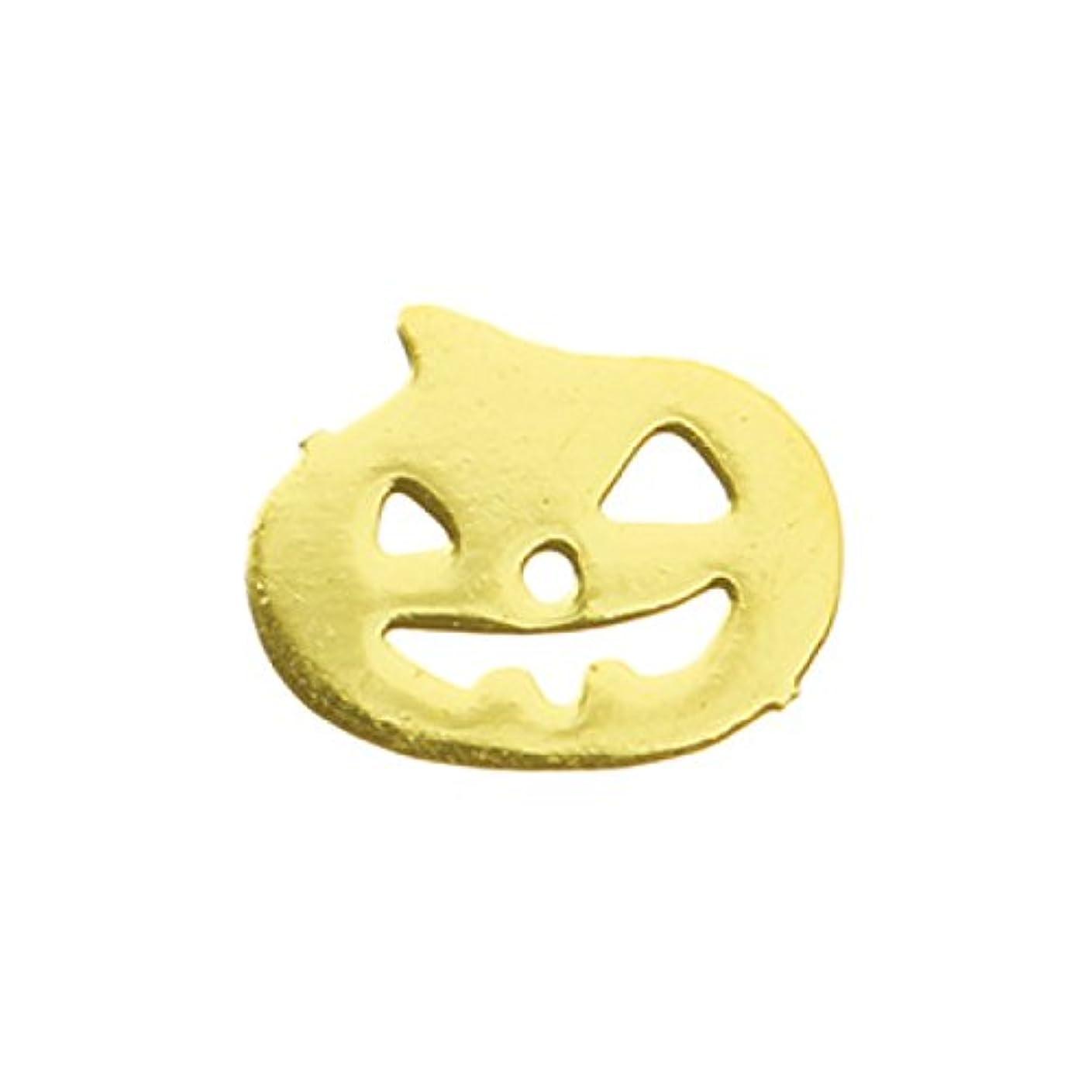 櫛天使レギュラーメタルプレート(ネイルストーン デコ) パンプキン ゴールド (30個入り)(ネイル用品)