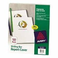 Avery消費者製品:スライドバーレポートカバー、20シートキャップ。、50/ PK、CL CVR。、Weバー–: -の2パックとして販売–50–/–Total of 100各