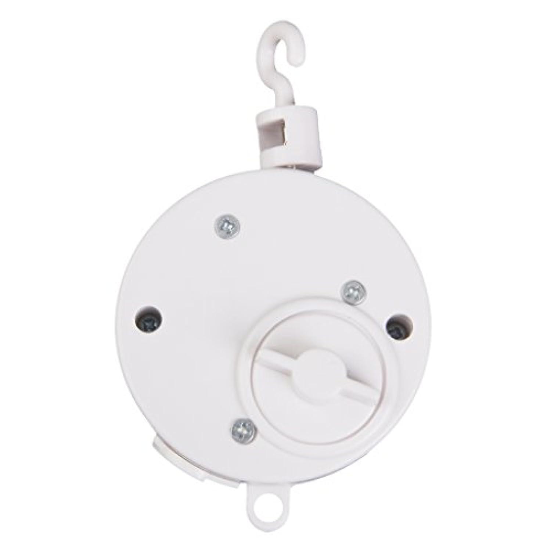 D DOLITY オルゴール ベッドベル用 音楽 ネジ巻式 アクセサリー 赤ちゃんおもちゃ プラスチック製 ホワイト