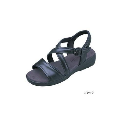 (クロワッサン) CROISSANT サンダル Basic ベーシック(CR4591) レディース コンフォート モダン L(23.5-24.0cm) ブラック