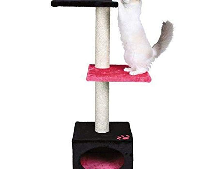 慣習休暇差し控えるScratcher Badalona109cm,-ブラック/ピンク、Trixie、J、Scratchers、猫
