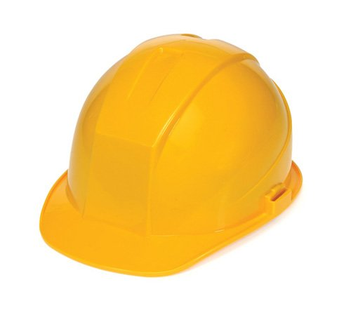 Liberty DuraShell HDPE Cap Style Hard Hat with 4 Point Ratchet Suspension, Yellow (Case of 6) by Liberty Glove & Safety