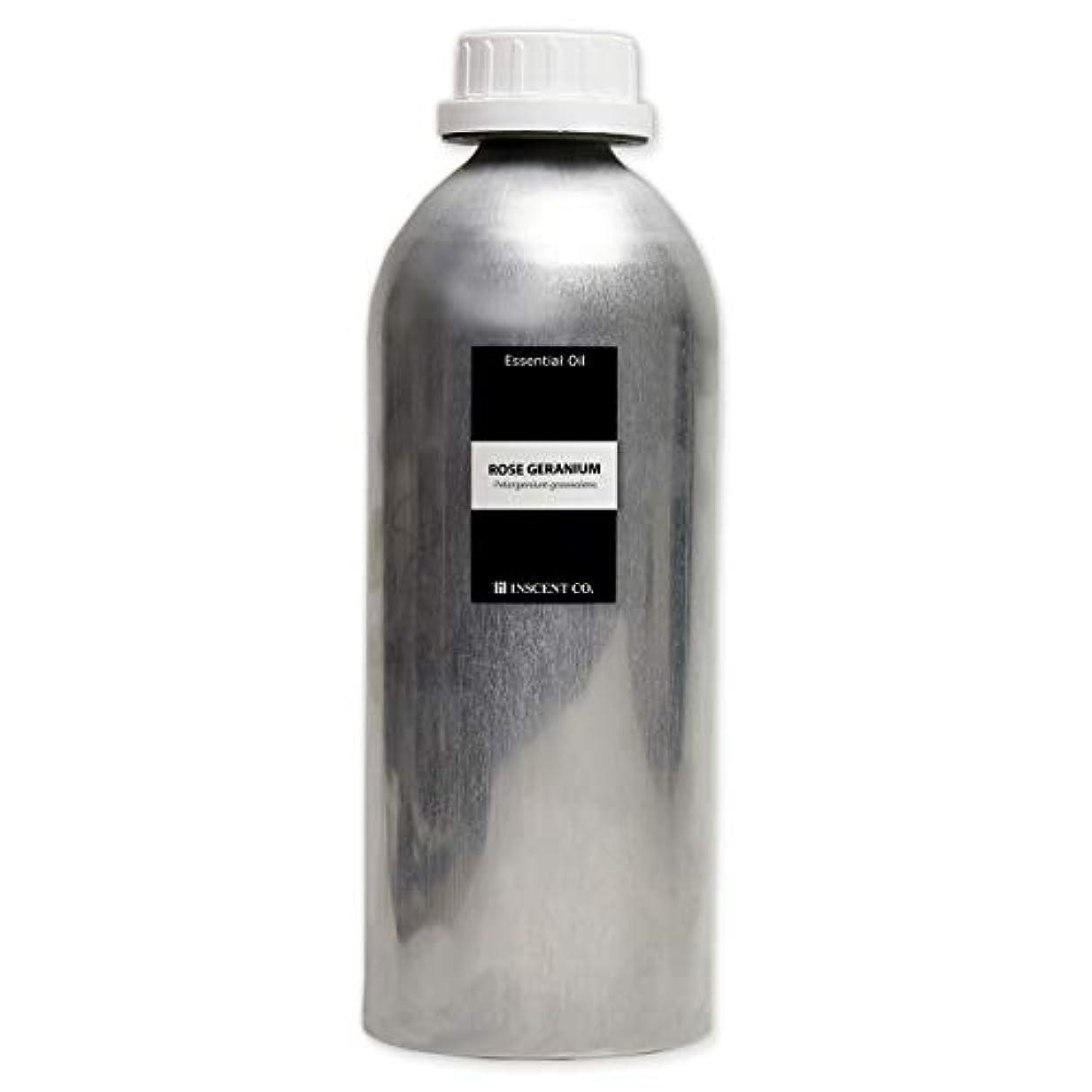 長さまもなく財布(業務用) ローズゼラニウム 1000ml インセント アロマオイル AEAJ 表示基準適合認定精油