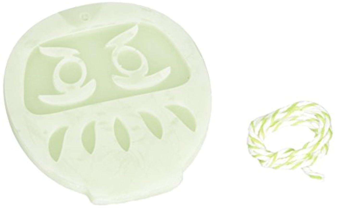 切手メッセージクリーナーGRASSE TOKYO AROMATICWAXチャーム「だるま」(GR) レモングラス アロマティックワックス グラーストウキョウ