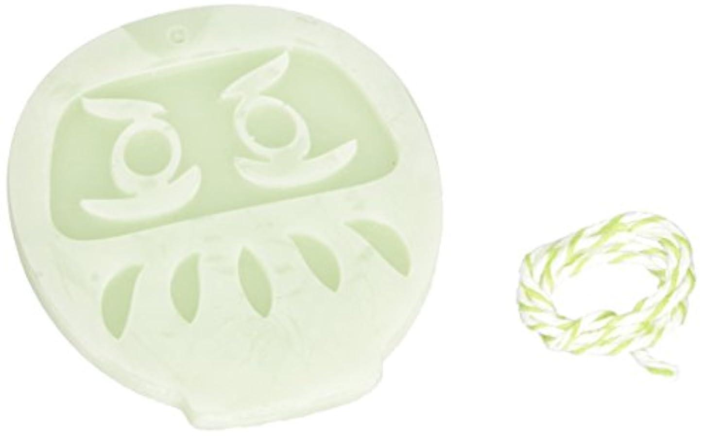 お香バラバラにする文法GRASSE TOKYO AROMATICWAXチャーム「だるま」(GR) レモングラス アロマティックワックス グラーストウキョウ