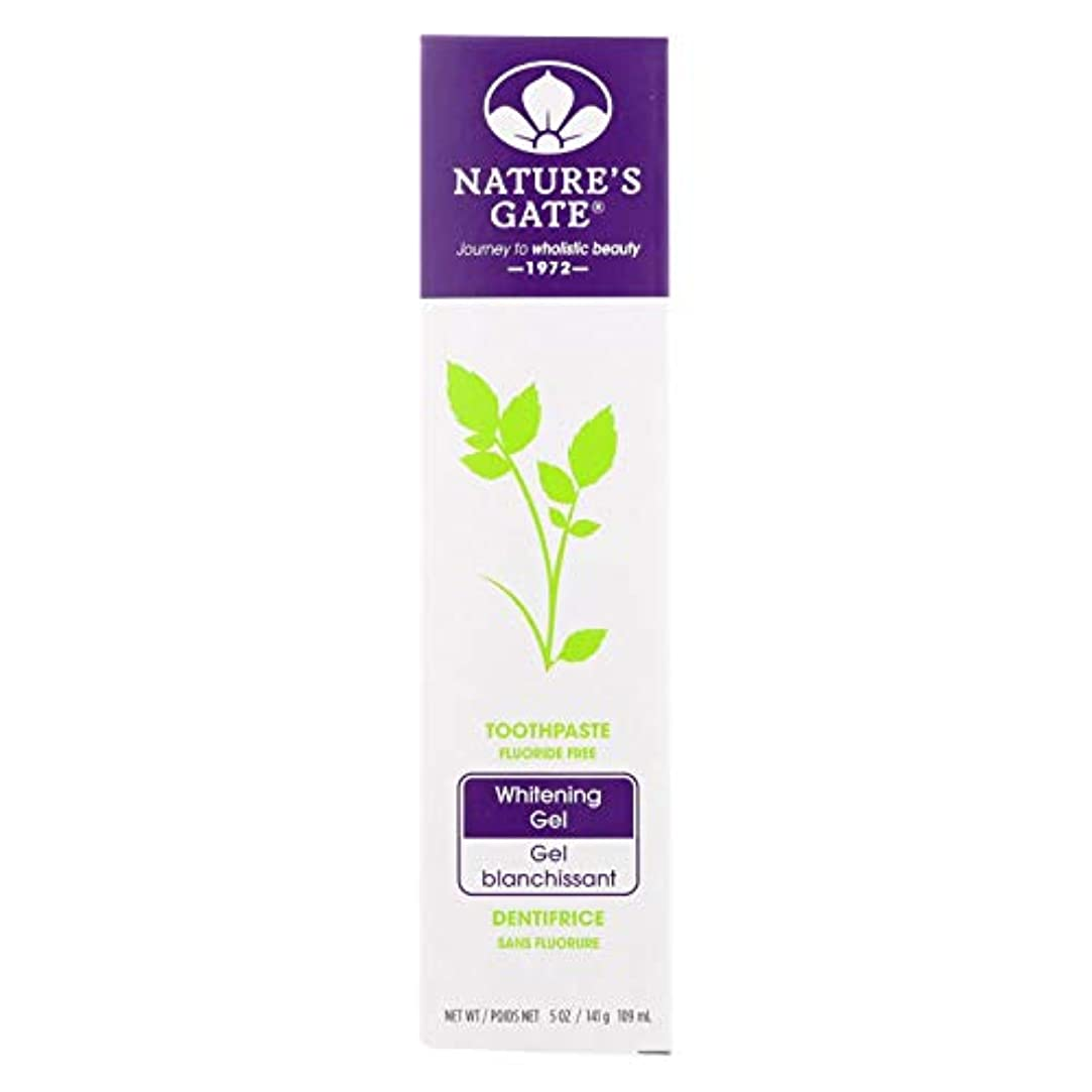 移民瞑想インゲン海外直送品Nature's Gate Dental Therapy Whitening Gel, 5 Oz (Pack of 6)