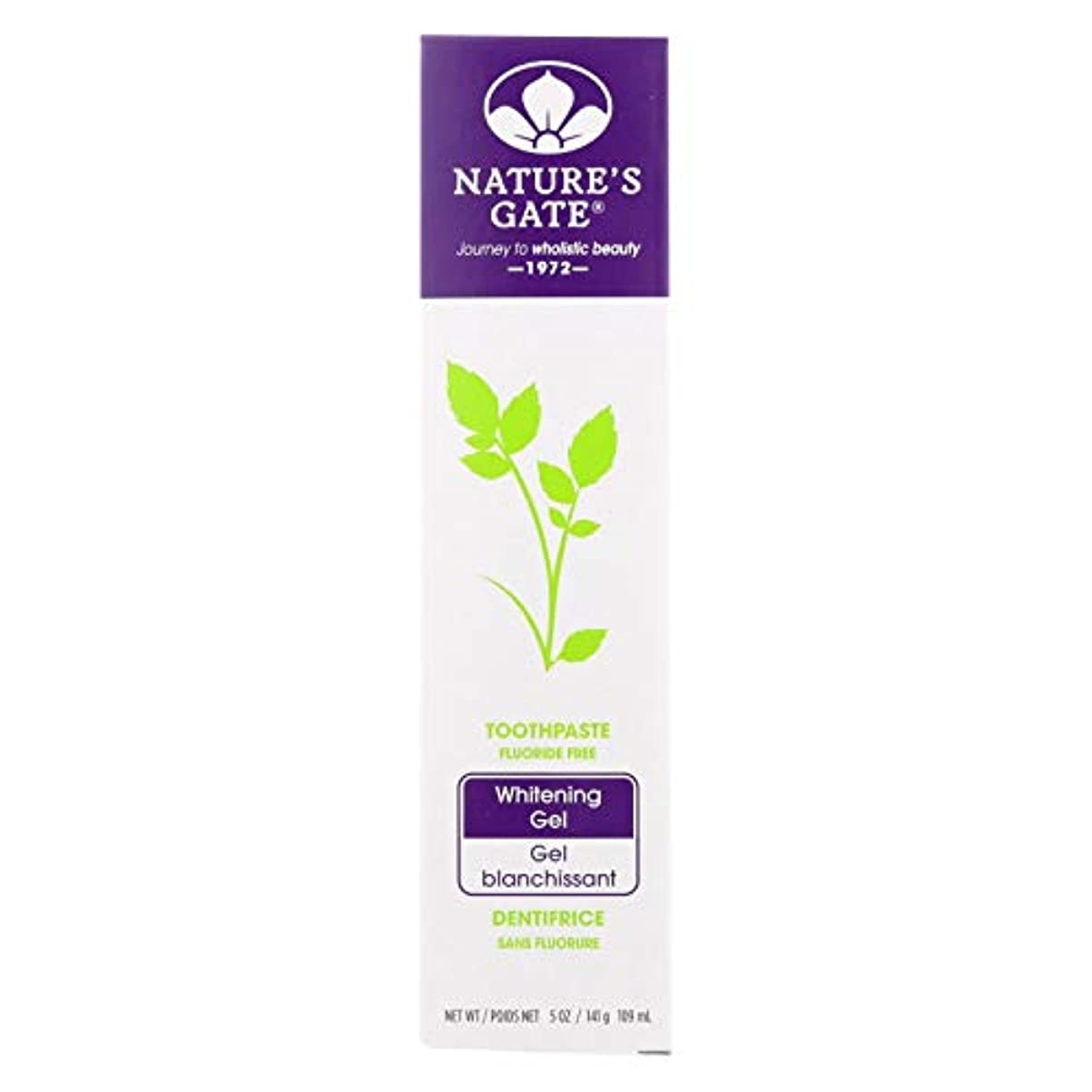 兵器庫レッスン指定海外直送品Nature's Gate Dental Therapy Whitening Gel, 5 Oz (Pack of 6)