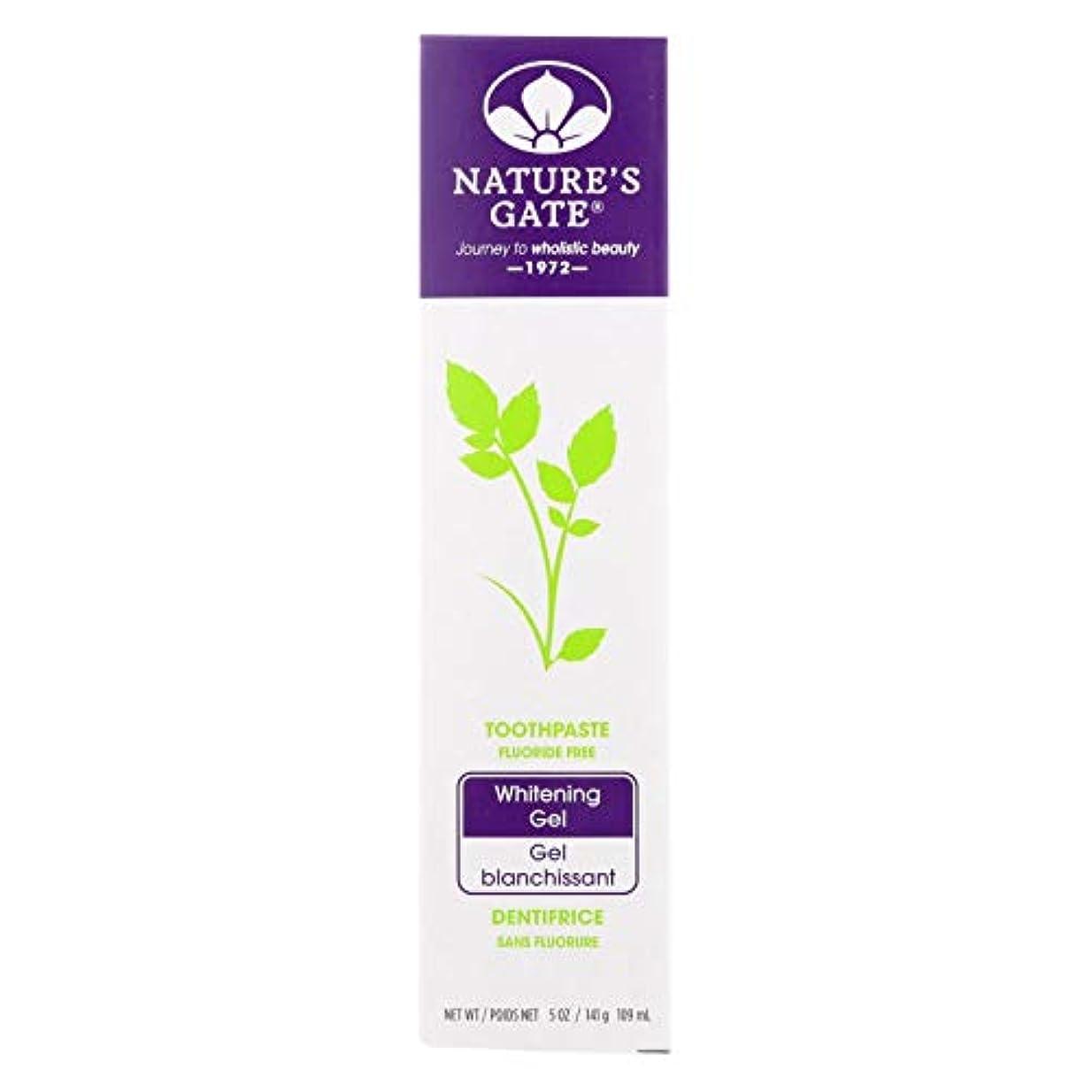 平和的エイリアンちょうつがい海外直送品Nature's Gate Dental Therapy Whitening Gel, 5 Oz (Pack of 6)