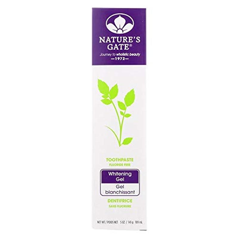サイトラインサッカーバナー海外直送品Nature's Gate Dental Therapy Whitening Gel, 5 Oz (Pack of 6)