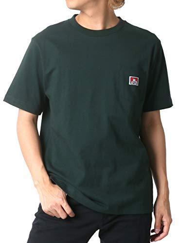 [ベンデイビス] Tシャツ ポケット 付き 無地 半袖 メンズ ダークグリー...