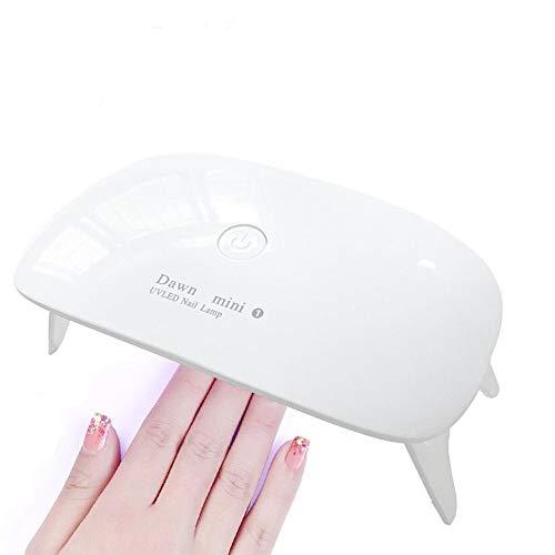 LEDネイルドライヤー UVライト LED 硬化ライト タイマー設定可能 折りたたみ式手足とも使える UV と LEDダブルライト ジェルネイル と uvライト レジン用 (ホワイト)