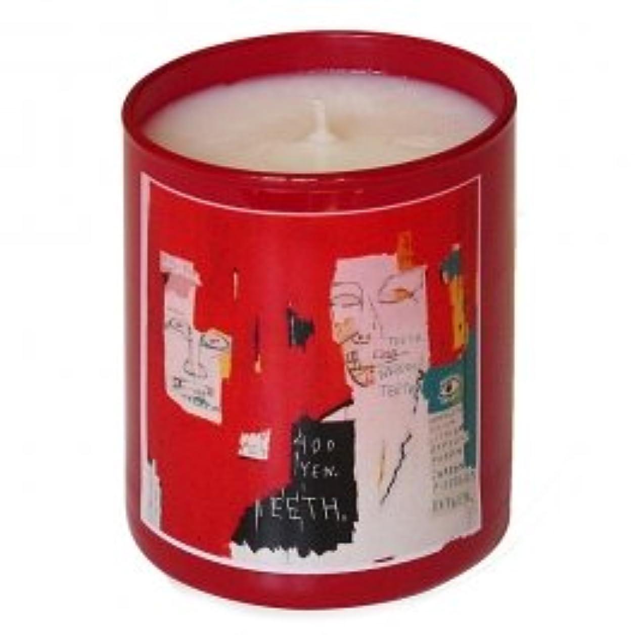 ペイント決済お風呂を持っているジャン ミシェル バスキア レッド キャンドル(Jean-Michael Basquiat Perfumed Candle