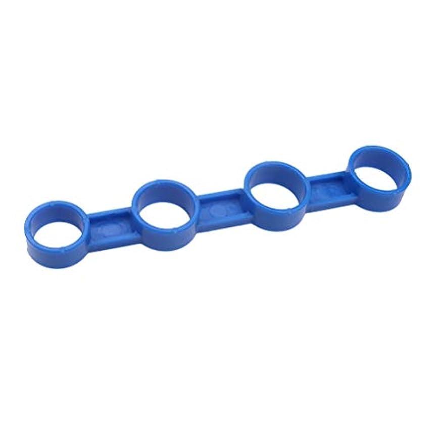 石鹸徹底的にタバコSUPVOX エレクトリックアコースティックギター指拡張スリーブ指の力のスパン練習楽器アクセサリー - ミディアム(ブルー)