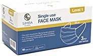 Simba Level 1 Single Use Face Mask, Blue 50 count, Pack of 50