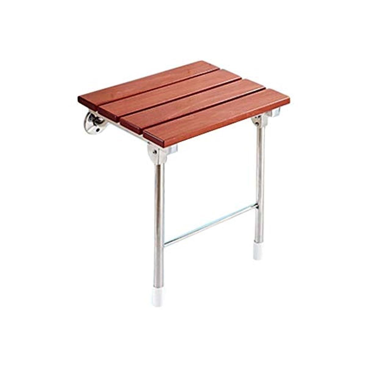 モス肘掛け椅子衝動折り畳み式の木製の壁のシャワースツール、シャワーシートスツール折りたたみ木製滑り止め変更靴スツール高齢者/無効