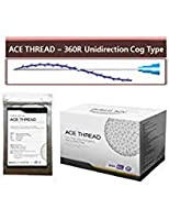 【並行輸入】 ACE PDO Thread lift Korea (リフティング糸 / メソン / 漢方病院針 / 鍼 ) / Ultra V-Lift / Face Lift - 3D-360R Unidirection Cog Type (20pcs) (23G38-20pcs)