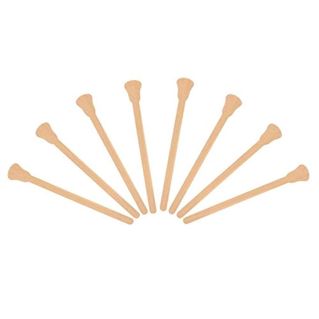 バレル勧告火山の10ピース木製ワックスへら舌圧子使い捨てフェイシャルマスク髪削除クリームアプリケーター