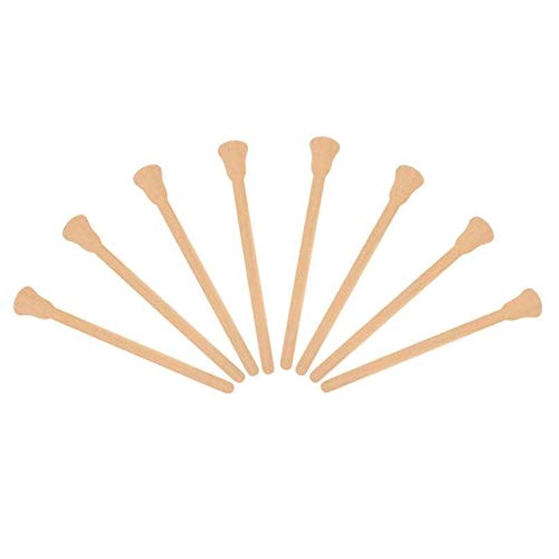 日記ストライプボウリング10ピース木製ワックスへら舌圧子使い捨てフェイシャルマスク髪削除クリームアプリケーター