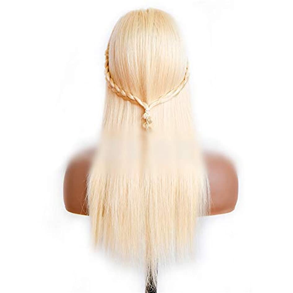 操作可能西年次WASAIO 女性のデイリードレスにハロウィンヘアアクセサリーレースフロントウィッグ (色 : Blonde, サイズ : 18 inch)