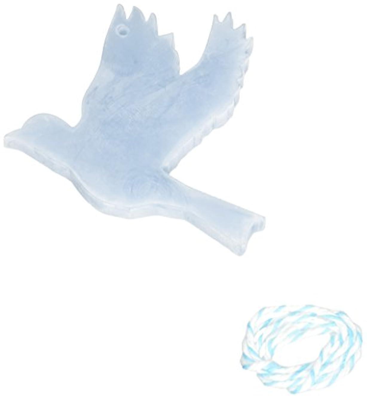 サンダー凝視美容師GRASSE TOKYO AROMATICWAXチャーム「ハト」(BL) ローズマリー アロマティックワックス グラーストウキョウ