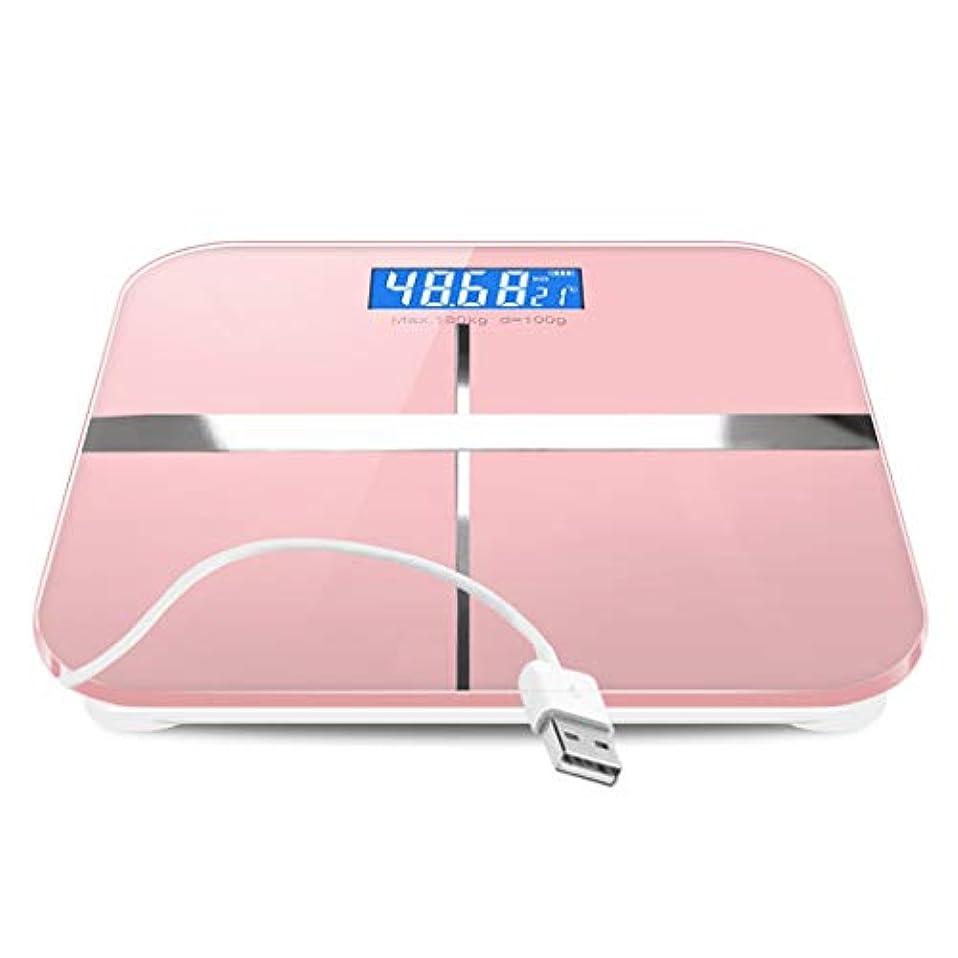 知的磁石不均一体重計 浴室スケールデジタル電子重量スケール正確な読み取り強化ガラスプラットフォーム安全性180kg容量温度表示ピンク