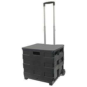 フォルディア(Foldea) ショッピングカート ふた付き キャリーカート 折りたたみ式 ブラック×ブラック WKS353