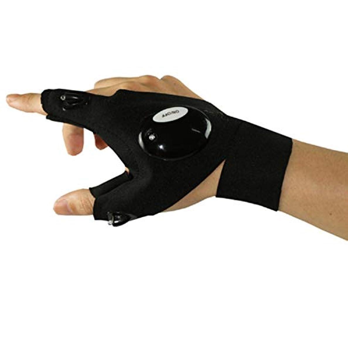 コークス写真を描く直感BAJIMI 手袋 グローブ レディース/メンズ ハンド ケア 実用的なアウトドアスポーツLEDグローブランニング固定スポットライト修理ランプ懐中電灯 裏起毛 おしゃれ 手触りが良い 運転 耐磨耗性 換気性