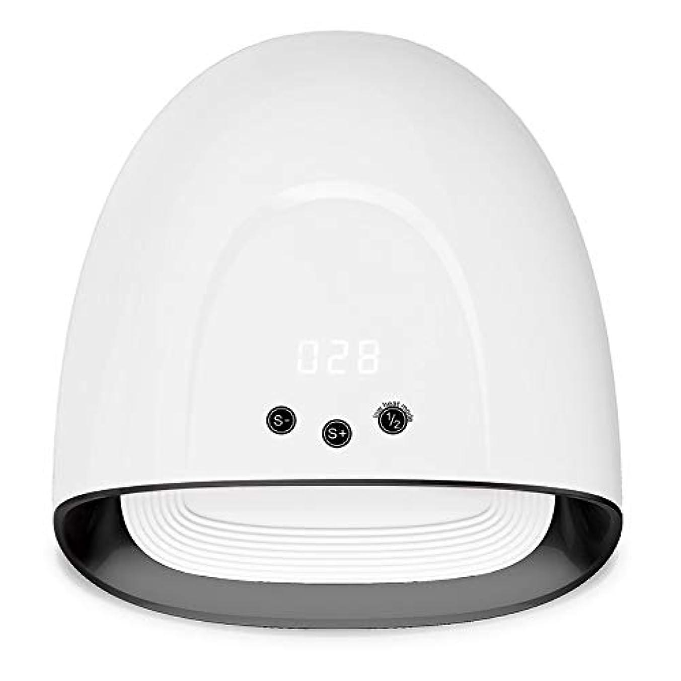ラップ風景ローブプロフェッショナルネイルライト60W UV LEDライトネイルグルータイマー付き自動ゲルセンサー(30s、60s、99s)ホワイト