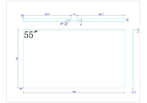 新サイズ!最新の液晶TVに対応!55インチ用液晶テレビ保護パネル AG-N55P【3mm厚】