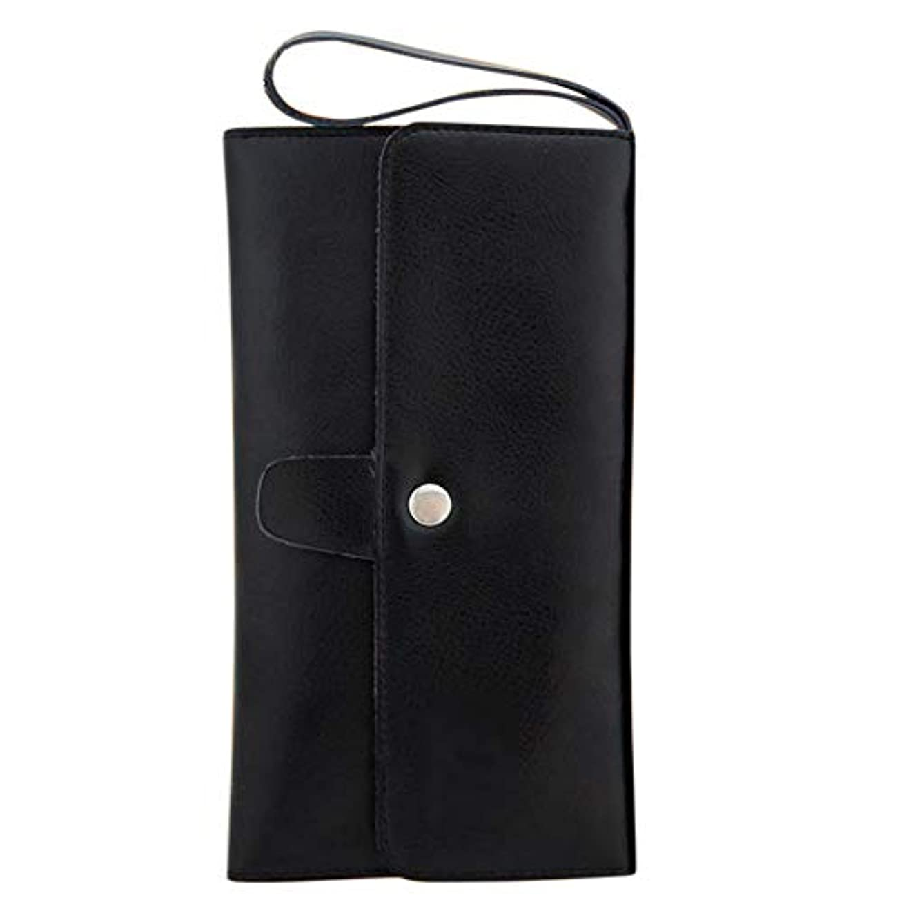 誰の靴下官僚ペットツールバッグレザーヘアはさみポーチバーバーくし収納袋 モデリングツール (色 : 黒)