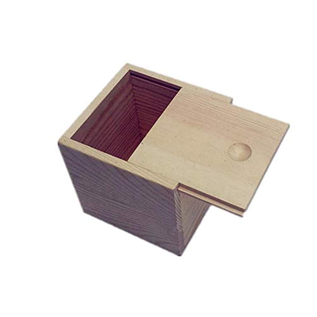シールフェンス猫背エッセンシャルオイル収納ボックス 木製のエッセンシャルオイルストレージボックス安全なスペースセーバー9x9x5cmあなたの油を維持するためのベスト (色 : Natural, サイズ : 9X9X5CM)