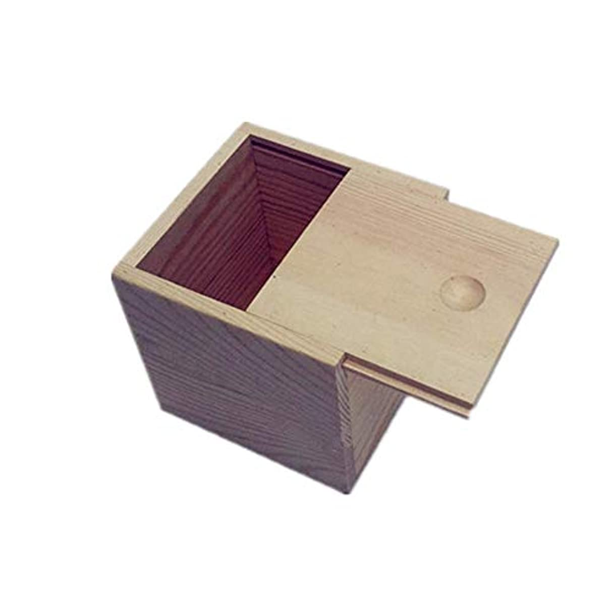 ヒギンズインフルエンザ少なくとも木製のエッセンシャルオイルストレージボックス安全なスペースセーバーあなたの油を維持するためのベスト アロマセラピー製品 (色 : Natural, サイズ : 9X9X5CM)
