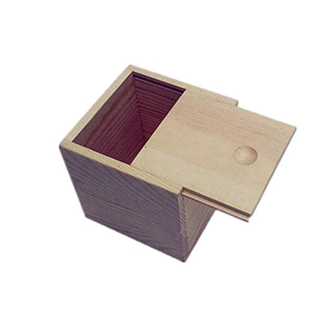 スピーカー給料ハックエッセンシャルオイル収納ボックス 木製のエッセンシャルオイルストレージボックス安全なスペースセーバー9x9x5cmあなたの油を維持するためのベスト (色 : Natural, サイズ : 9X9X5CM)