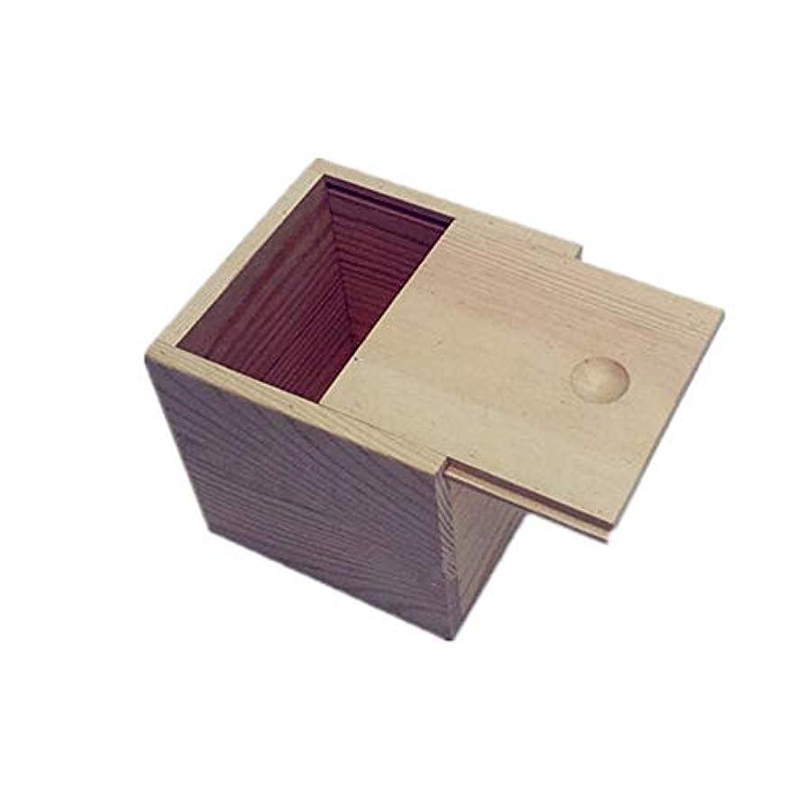 統治する型教育者木製のエッセンシャルオイルストレージボックス安全なスペースセーバーあなたの油を維持するためのベスト アロマセラピー製品 (色 : Natural, サイズ : 9X9X5CM)