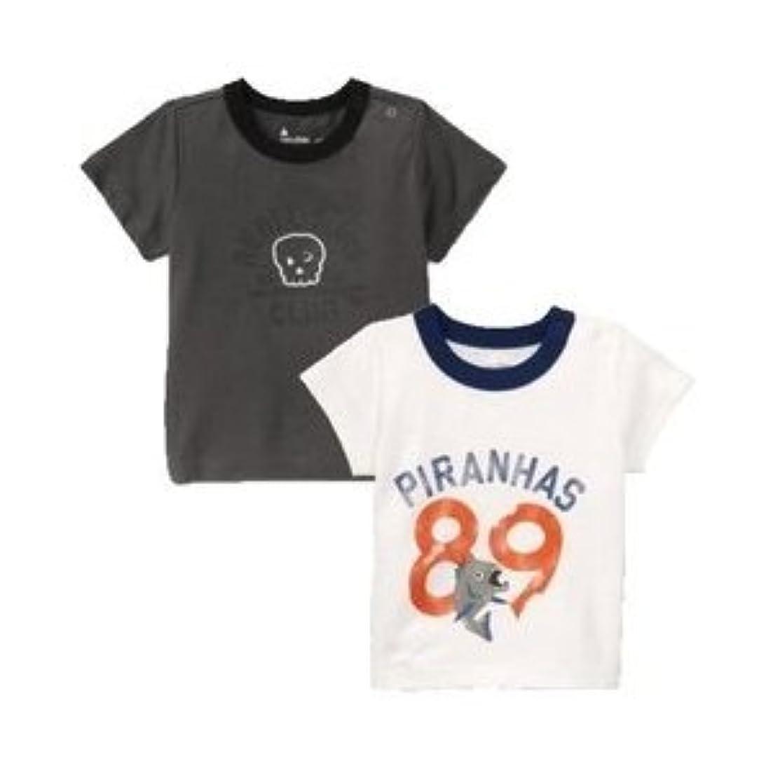 むしゃむしゃ現代の肥料baby GAP サマー Tシャツ 半袖(チャコール?ホワイト)【月齢:1歳~2歳】(並行輸入品)