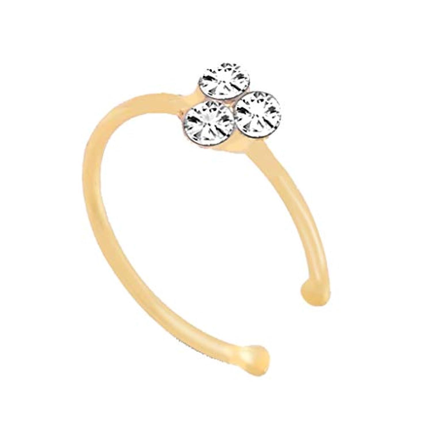 シーン輝度流星Nicircle 3ドリル 鼻輪 鼻ネイル ゴールド 女性のための新しい1Pcファッション装飾鼻輪ファッションドロップ鼻輪スタッド New 1Pc Fashion Decoration Nose Rings Fashion...