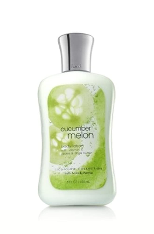 運動する遠え納屋バス&ボディワークス キューカンバーメロン ボディローション Cucumber Melon body lotion[並行輸入品]