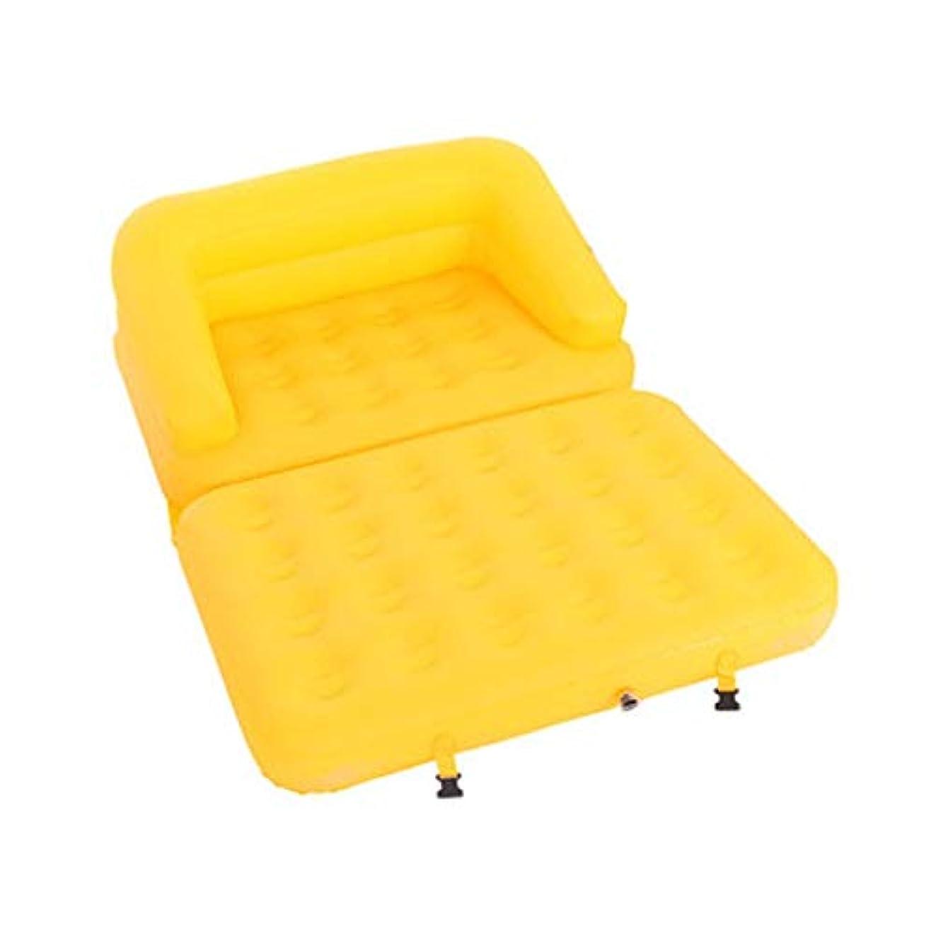 天シルエットストリップ1つの単一の膨脹可能なSofaDeckの椅子の椅子のソファに群がったエアベッドのマットレス200 x 137 x 53 cm