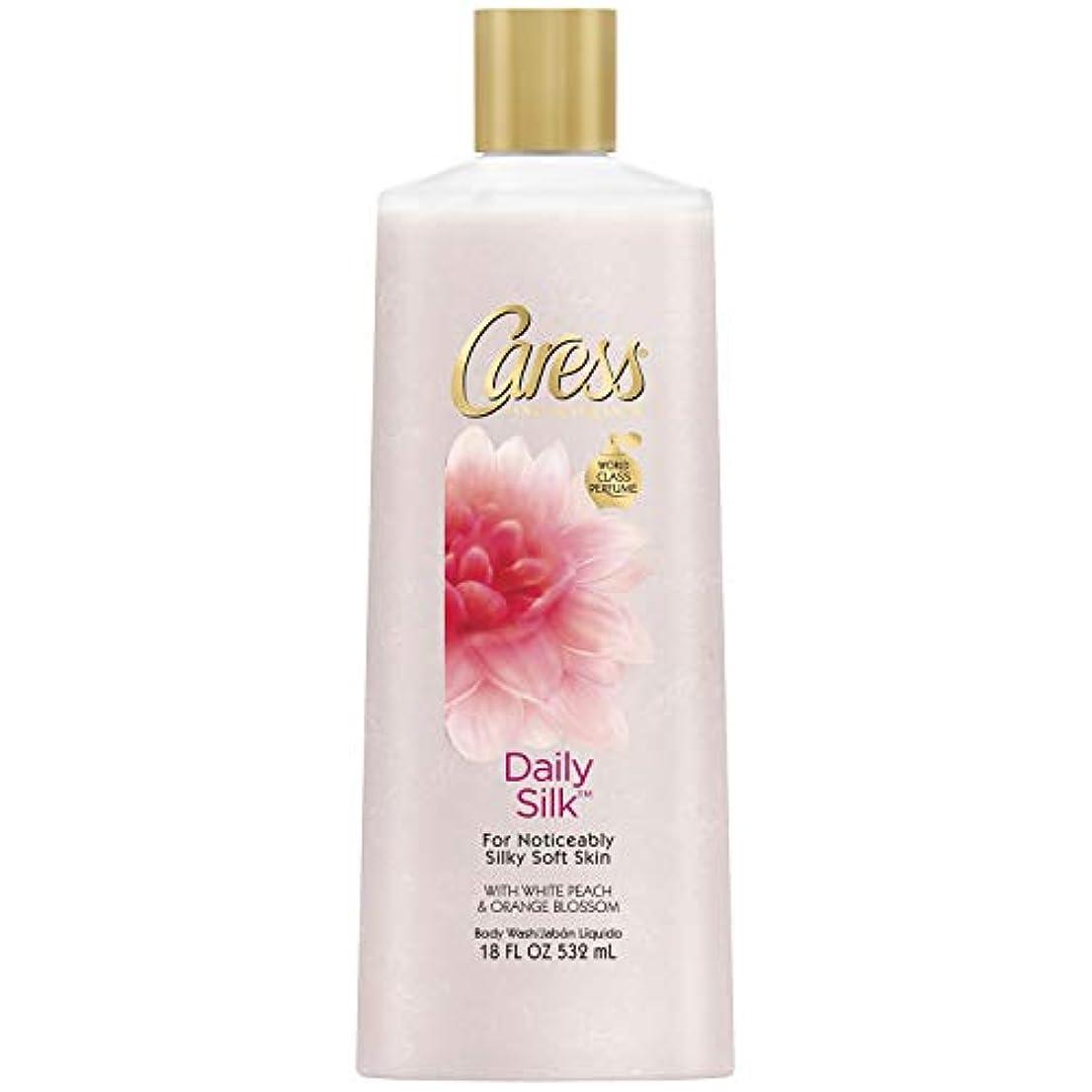 スプリット拒絶親愛なCaress Body Wash Daily Silk 18 oz