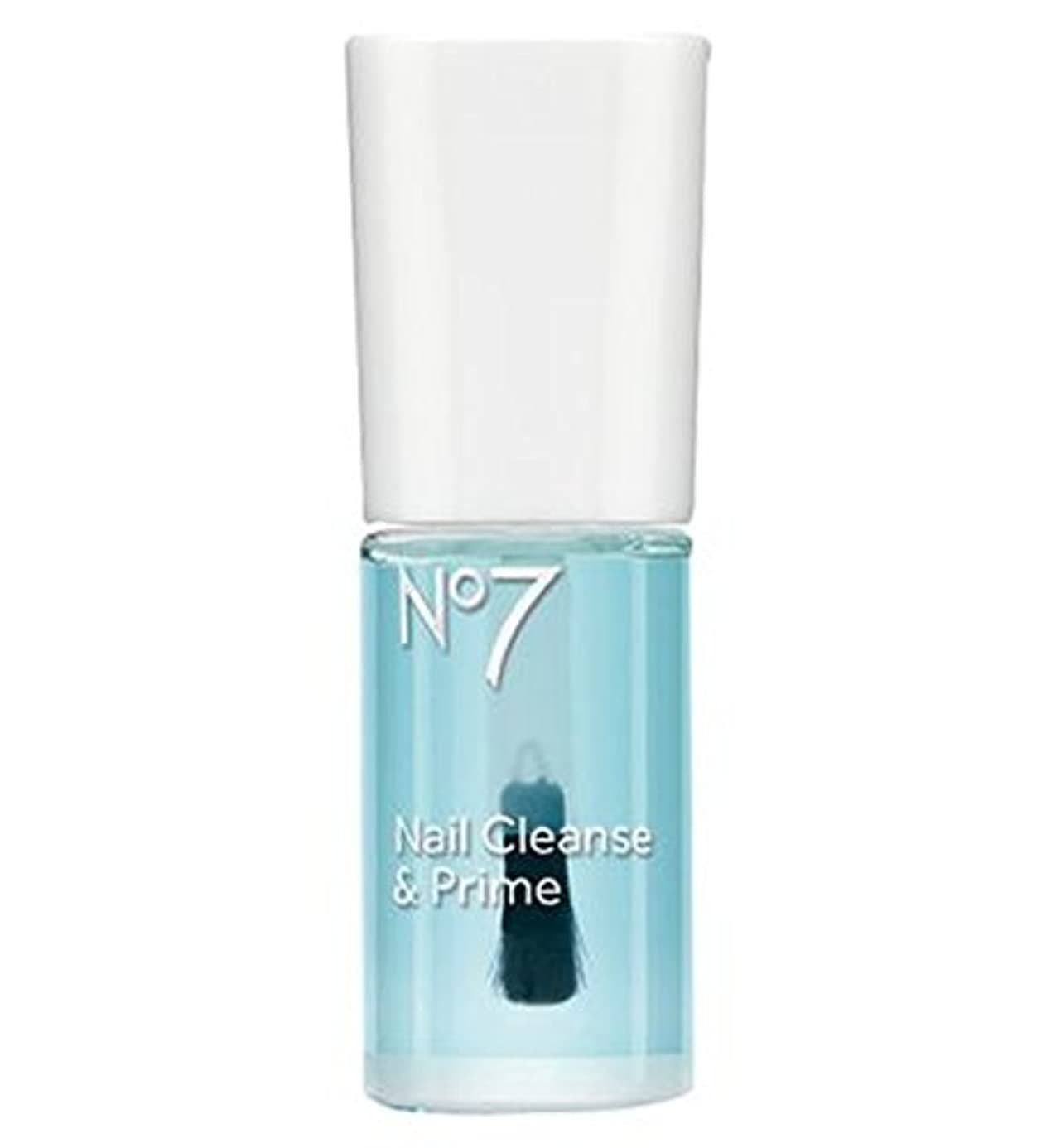 波紋酸っぱい一人で[No7] No7の爪の浄化とプライム10ミリリットル - No7 Nail Cleanse And Prime 10ml [並行輸入品]