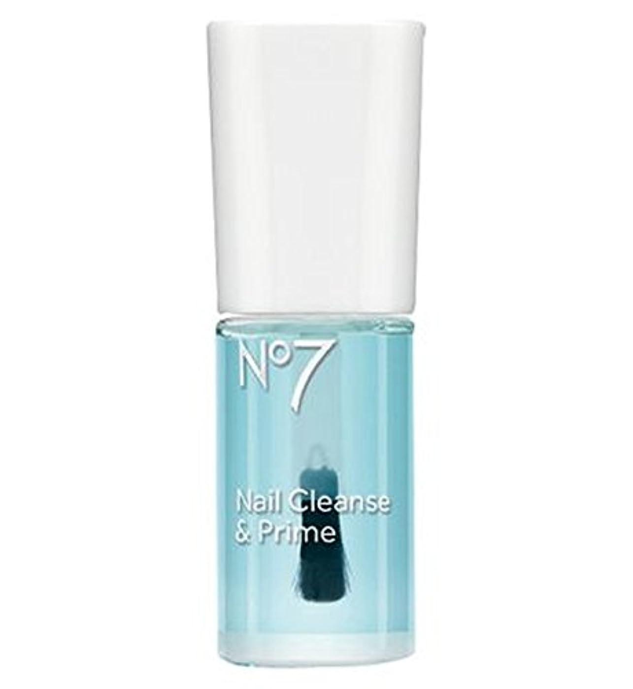 いっぱいくぼみサンダー[No7] No7の爪の浄化とプライム10ミリリットル - No7 Nail Cleanse And Prime 10ml [並行輸入品]